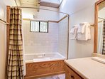 Full Bathroom with Shower & Jacuzzi tub