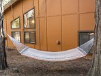 Another angle of the outside game area with hammock