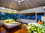 Master Bedroom with A/C and rice field view.