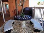 Grill area picnic table