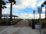 Public beach access across the street
