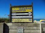 Public beach access at Madeira Beach. Direct access on site.