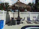 Tiki hut at pool area