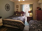 STYLISH BEDROOM with a  QUEEN BED and a  SINGLE  (Twin Bed)