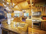 Whip up a nice meal, or quick snack, in this massive kitchen.