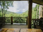 Enjoy the mountain view at Red Stag Lodge.