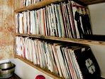 We have a working radiogram that plays vinyl and a collection of c. 500 records that guests can play