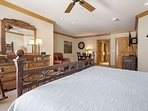Full view of large master suite.