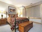 Bedroom 3 features queen bed, en-suite bathroom and Strawberry Park views.