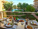 Enjoy you breakfast at your terrace of the apartment