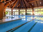 Indoor Pool with lap lines
