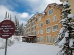 Enjoy ski-in/ski-out access at Nancy Greene's Cahility Lodge