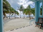 Step off of your porch onto the beautiful private beach