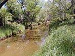 The creek runs seasonally.