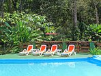 Whether you jump in or relax beside the pool you are sure to have a great afternoon!