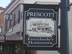 Prescott is everybody's hometown. You will love being so close to the square