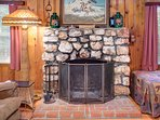 Gorgeous Stone Fireplace