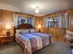 Bedroom 1 with King bed, main floor