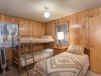 Bedroom 2 with a Twin and Set of Bunk Beds, main floor