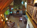 Lava Rock fireplace / Living room