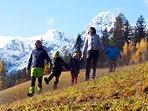 Family mountain hike.