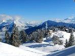 Skiing at the local station (Sambuy)