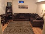 Lower Level Living room with flat screen tv