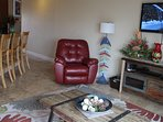 Relax in newly installed full body Lazy Boy recliner.  Enjoy the moment!