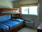2nd bedroom Full size with bunk bed.