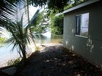 path that leads to our boat ramp, which leads out of the attached boat garage.