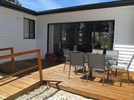 your own private entrance and outdoor living space