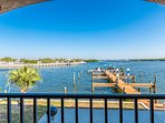 Bring your boat, dock it for free, and watch over it from the lanai.