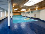 The indoor heated pool open all year round.