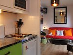 Lounge from kitchenette