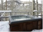 Soak in the Hot Tub while you watch the Skiers at Solitude