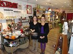 Anne-Sophie and Elisa await you at their decor boutique, central Meursault.