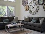 Entertaining area, main floor, two comfortable sleeper sofas.