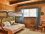 The bunk room is perfect for kids and includes a flat-screen TV and Xbox.