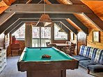 Head upstairs for a game of pool and enjoy the scenic views from the balcony.