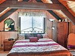 Recharge with a good night's sleep on the master bedroom's king-sized bed.