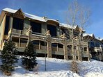 The Sullivan Stone Lodge is set directly on the ski hill at Kimberley Alpine Resort