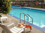 Amenities include an outdoor pool/hot tubs, a spa and yoga classes for skiers.