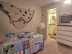 You'll sleep peacefully in this spacious bedroom!