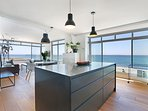Kitchen island and breakfast bar