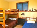 The Bear Room (2 full bunk beds and 1 twin)