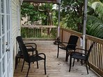 Front Deck with gas BBQ and chairs for lounging