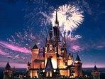 Listen to the fireworks every night, Disney's 10 min away