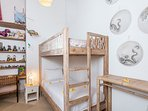 The bunk bed in the extra room
