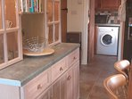 Large 'farmhouse' kitchen, table/chairs seat 8, American F/F, double oven, ceramic hob, dishwasher