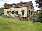 Kingfisher Cottage - parking for up to 3 cars, patio, garden, decking by stream